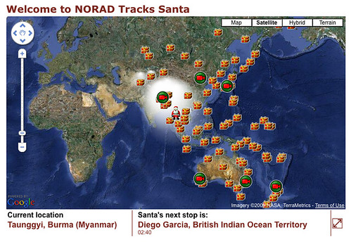 Official NORAD Sanda Tracker Map