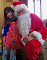 Julia and Santa at the Playgroup Christmas Party