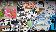 Sticker pack from Bimimonsters 1 (freaQ) Tags: urban streetart happy sticker stickerart belgium character stickers adhesive printed belgica handdrawn flanders combo stickercombo vlaanderen straatkunst freaq