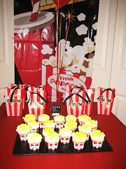 Movie Night Party (Kid's Birthday Parties) Tags: birthday decorations party birthdayparty popcorn movieparty caketable partytheme popcornparty popcorncupcakes movienightparty movienightpartydecorations movienightpartyfavors