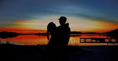 Warmth (Johan Runegrund) Tags: sunset woman man silhouette hdr kvinna