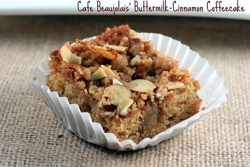 Cafe Beaujolais' Buttermilk-Cinnamon Coffeecake