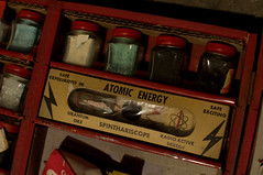 the half life of toys (underwhelmer) Tags: house brooklyn toy interior parkslope ephemera limestone radioactive atomicenergy chemistryset chemcraft uraniumore spinthariscope