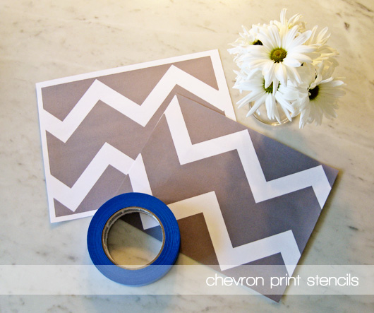 DIY Chevron Art project