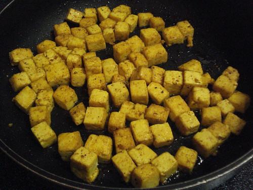 FryingCurriedTofu