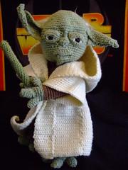 yoda (oliveoil22890) Tags: toy starwars stuffed yoda awesome crochet master jedi lightsaber amigurumi memorabilia degobah starwarscrochet