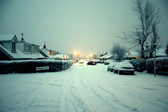 Greenlands AVE. () Tags: snow cold scenic frosty fresh firstsnow snowfall isleofman ramsey mywalktowork