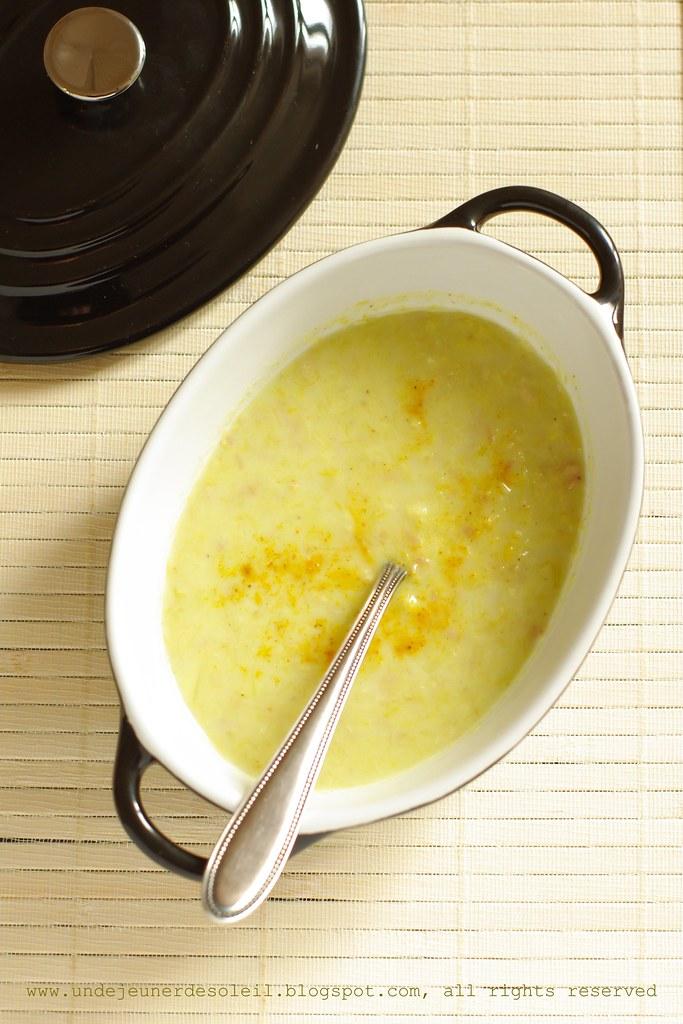Soupe poireaux et curry