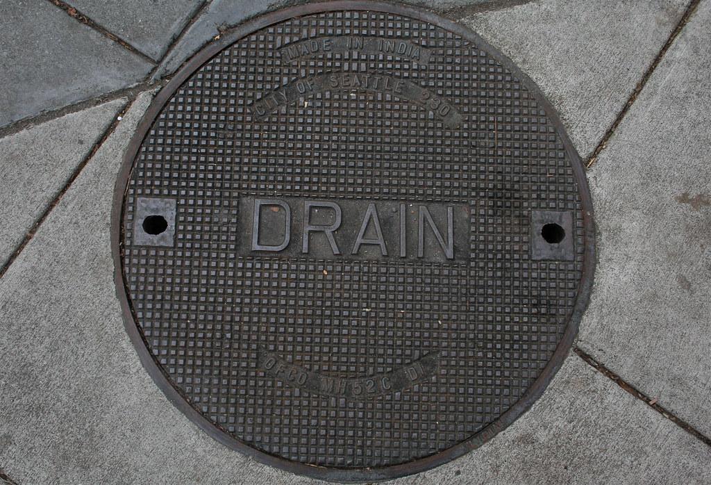 Seattle DRAIN Manhole Cover