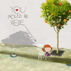 all i know (crosti) Tags: red orange tree love girl collage illustration paper graphicdesign boat waiting alone sitting sad you pavement christina under chloe here sidewalk lonely but watercolors haired relationships princessleah tsevis neratzia crosti youshouldbehere