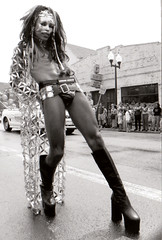 In Step - Chicago 2000 Pride Parade (tacosnachosburritos) Tags: street gay jockstrap chicago black boys girl beautiful leather hair town poser chains shoes platform pride bondage parade teen heels bloody undies bitches crossdresser halsted whips freaks