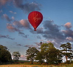 Virgin Hot Air Balloon (Janet-marie) Tags: yorkshire clapham virginhotairballoon