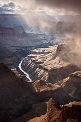 Canyon Snake (mibreit) Tags: light sunset usa storm nature river landscape grandcanyon fineart natur ravine wilderness amerika landschaft sturm alemdagqualityonlyclub