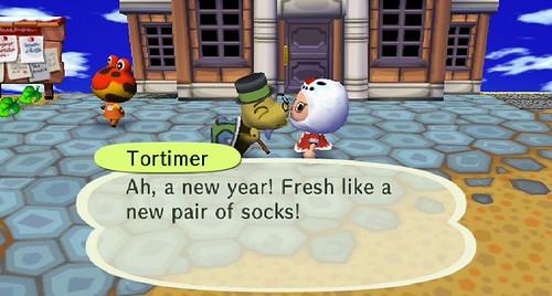 New socks are good...
