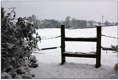 Step this Way (Donna JW) Tags: trees winter snow fence gate fields stile picnik gamewinner 600g woodenstile pregamewinner