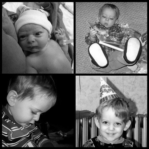 erik's first four birthdays