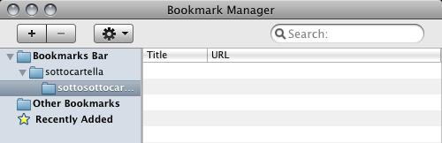 Mac Chromium 4.0.303.0 (36586) - Mac-like UI in the Bookmark Manager