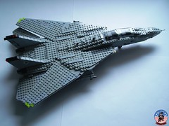 Tophatters F-14A Tomcat (6) (Mad physicist) Tags: model fighter lego aircraft military usnavy tomcat 136 ussenterprise grumman f14a tophatters