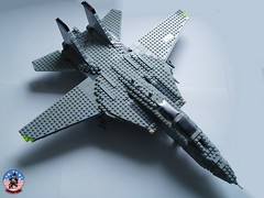 Tophatters F-14A Tomcat (5) (Mad physicist) Tags: model fighter lego aircraft military usnavy tomcat 136 ussenterprise grumman f14a tophatters
