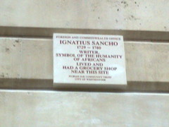 Photo of Ignatius Sancho brown plaque