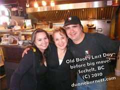 23jan2010duaneburnett (Duane Burnett) Tags: street new old news sunshine last boot for coast day bc closes 15 down it move location after years local across sechelt eatery duaneburnettcom