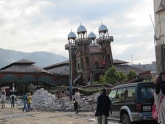 Port-au-Prince's old Iron Market in ruins