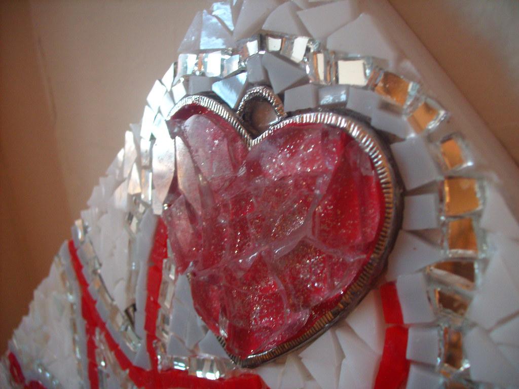 Valentine Framed Mirror WIP - 01.25.10