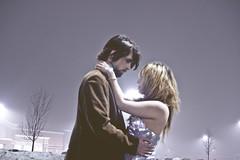 dontletgofortheworld (yyellowbird) Tags: winter boy selfportrait love girl fog parkinglot couple brian cari