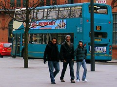 Three cool dudes (* RICHARD M) Tags: street buses liverpool candid cities telephoto publictransport dudes ports merseyside cooldudes capitalofculture liverpoolone