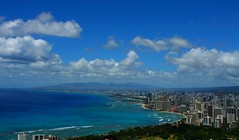 Honolulu Skyline (kcezary) Tags: ocean blue summer vacation seascape tourism colors canon landscape outdoors island hawaii holidays mare waikiki oahu bluesky paisaje diamondhead honolulu 24mm waikikibeach paysage landschaft   canoneflens primelens diamondheadview canon24mmf28 5photosaday ef24mmf28 canonprimelens canonrebelxti updatecollection