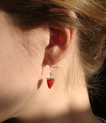 Huuge Strawberries - Dangle Earrings