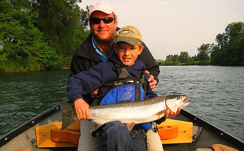 Father and Son with Willamette Steelhead 2, cropped