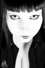 Monica B&W (Bludado-Photos) Tags: portrait blackandwhite girl look eyes tits ben ritratto bew biancoenero bludado