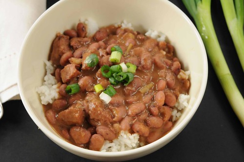 top down redbeans and rice