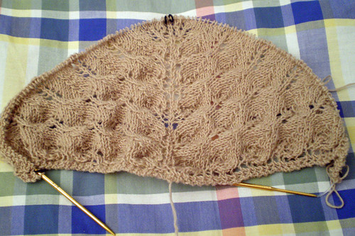 Shetland Triangle shawl progress