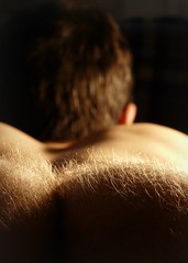 Backside (St-Even) Tags: man male naked nude fur back butt cheeks torso behind