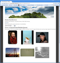 Flickr Favebrowser, screenshot