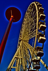 Wheely gone (Tony Shertila) Tags: england sky wheel liverpool europe britain merseyside liverpoolone liverpool1 theunforgettablepictures creattivit ferriswherel
