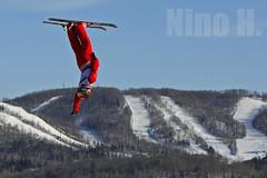 Upside down (Nino H) Tags: winter snow canada ski sport flying quebec hiver québec neige laurentides acrobatic montgabriel acrobatique coupedemonde
