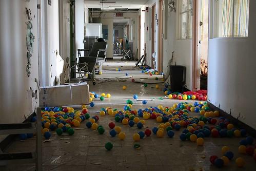 Ball Pit Hallway Shot