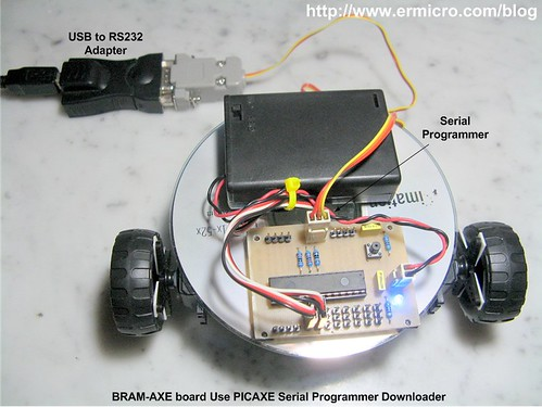Build Your Own Simple and Easy PICAXE Microcontroller Based Photovore Robot  04