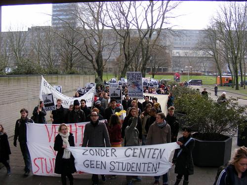 Studenten komen voor hun rechten op!