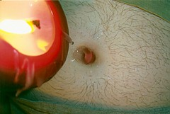 Poured hot directly from flame into anxiously awaiting innie! (Deep Scar) Tags: clamp belly tummy button wax navel outie