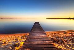 Oh Summer (diesmali) Tags: sunset lake beach reflections sweden jetty sverige hdr vttern motala stergtland sigma1020mmf456exdchsm canoneos40d varamo