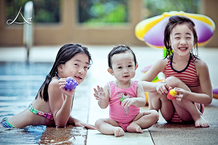 Haley with her cousins having some pool fun!