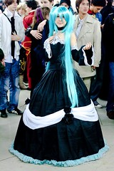 Paris Manga 9 - Miku Hatsune (Vocaloid version Cantarella) (fabnol) Tags: anime japan costume cosplay convention vocaloid mikuhatsune parismanga09
