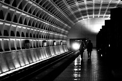 Departure (noblerzen) Tags: bw station silhouette subway washingtondc nikon noir metro archives dcist wmata navymemorial pennquarter d90 keep10 project365 niftyfifty nikkor50mmf14g ditch4 fu64g15r1w