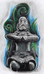 SEÑOR  MAYA DE LA ISLA DE JAINA (roca tattoo studio) Tags: tattoo lluvia arte maya flash culture pic dibujo diseño dios tatuaje guerrero prehispanic azteca precolombino prehispanico deidad