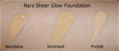 nars sheer glow foundation barcelona, stromboli, punjab