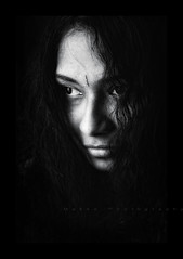 Shrouded in mystery (bhagath makka) Tags: seattle portrait blackandwhite bw girl smile eyes photoshoot indian headshot tamil makka gani bhagath bhagathkumar makkaphotography